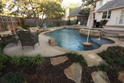 <h5>Backyard Design - Allen</h5><p>Signature Pools & Spas - Custom Swimming Pools</p>