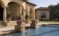 <h5>Stonework - Outdoor Design - Highland Park</h5><p>Signature Pools & Spas - Custom Swimming Pools</p>