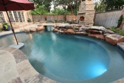 <h5>Outdoor Fireplace - Westlake</h5><p>Signature Pools & Spas - Custom Swimming Pools</p>