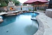 <h5>Outdoor Fireplace - Richardson</h5><p>Signature Pools & Spas - Custom Swimming Pools</p>