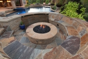 <h5>Outdoor Fireplace - Keller</h5><p>Signature Pools & Spas - Custom Swimming Pools</p>