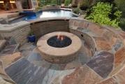 <h5>Outdoor Fireplace - Keller</h5><p>Signature Pools & Spas - Custom Swimming Pools</p>