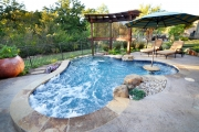 <h5>Trellises - Island Park</h5><p>Signature Pools & Spas - Custom Swimming Pools</p>