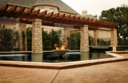 <h5>Custom Stonework - Flower Mound</h5><p>Signature Pools & Spas - Custom Swimming Pools</p>