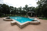 <h5>Outdoor Stonework - Prestonwood</h5><p>Signature Pools & Spas - Custom Swimming Pools</p>