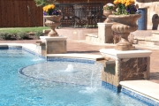 <h5>Custom Stonework - Island Park</h5><p>Signature Pools & Spas - Custom Swimming Pools</p>